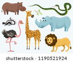 cute animals for baby. wild... | Shutterstock .eps vector #1190521924