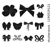 multicolored bows black icons... | Shutterstock .eps vector #1190529121