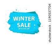 vector illustration of winter... | Shutterstock .eps vector #1190537704