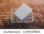 empty shopping basket with... | Shutterstock . vector #1190539801