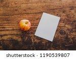 apple and copyspace on memo... | Shutterstock . vector #1190539807