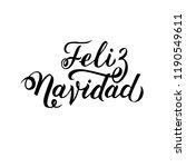 feliz navidad hand lettering... | Shutterstock .eps vector #1190549611