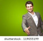 portrait of young businessman... | Shutterstock . vector #119055199