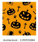 halloween seamless pattern | Shutterstock .eps vector #1190552884
