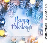 christmas and new year holidays ... | Shutterstock . vector #1190554471
