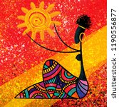 African Girl Holds The Sun...