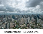 wide angle view of bangkok city ... | Shutterstock . vector #119055691
