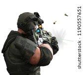 tactical army man cartoon in...   Shutterstock . vector #1190557651