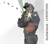 tactical army man cartoon in... | Shutterstock . vector #1190557654