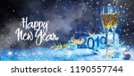 sparkling new year background.... | Shutterstock . vector #1190557744