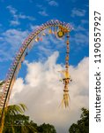 detail of balinese hindu... | Shutterstock . vector #1190557927