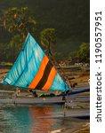 balinese fishing boat returning ... | Shutterstock . vector #1190557951