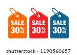 30  discount label symbols... | Shutterstock .eps vector #1190560657