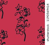 abstract floral seamless... | Shutterstock .eps vector #1190569414