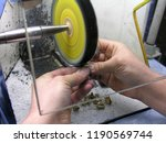 jeweler at work in jewelery... | Shutterstock . vector #1190569744