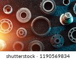 creative background  metal... | Shutterstock . vector #1190569834