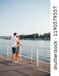 couple enjoy by the river side... | Shutterstock . vector #1190579557