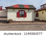 an antique painted wooden... | Shutterstock . vector #1190583577