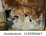 corroded white metal background.... | Shutterstock . vector #1190583667