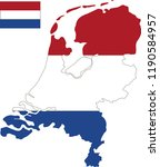 vector map of netherlands with... | Shutterstock .eps vector #1190584957