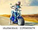 mother and son rides on... | Shutterstock . vector #1190603674