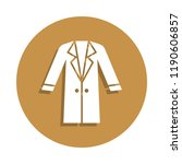 woman coat icon in badge style. ...