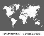 vector world map. | Shutterstock .eps vector #1190618401