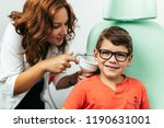 young boy at medical... | Shutterstock . vector #1190631001