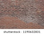 old red brick wall closeup | Shutterstock . vector #1190632831