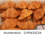 french croissants in the market | Shutterstock . vector #1190633224