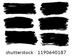 vector set of hand drawn brush... | Shutterstock .eps vector #1190640187