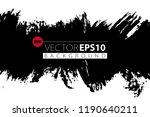 vector hand drawn ink brush... | Shutterstock .eps vector #1190640211