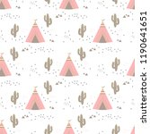 seamless teepee tent arrow and... | Shutterstock .eps vector #1190641651