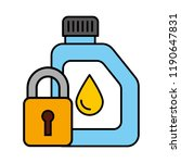 gallon oil security automotive... | Shutterstock .eps vector #1190647831