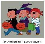 children participate in trick...   Shutterstock .eps vector #1190648254