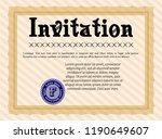 orange formal invitation... | Shutterstock .eps vector #1190649607