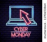 cyber monday shop | Shutterstock .eps vector #1190653864