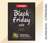 black friday poster template | Shutterstock .eps vector #1190656681