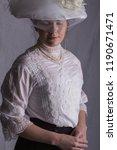 Edwardian Lady In White Lace...