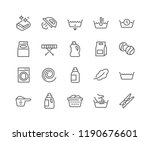 simple set of laundry related... | Shutterstock .eps vector #1190676601