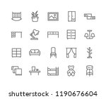 simple set of furniture related ... | Shutterstock .eps vector #1190676604