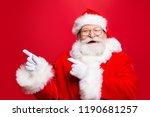 funky rejoice stylish santa in... | Shutterstock . vector #1190681257