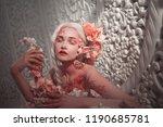 young beautiful girl elf.... | Shutterstock . vector #1190685781