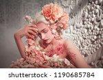 young beautiful girl elf.... | Shutterstock . vector #1190685784