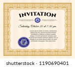 orange invitation. with quality ... | Shutterstock .eps vector #1190690401