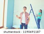 portrait happy smiling young... | Shutterstock . vector #1190691187