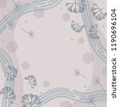 floral scarf pattern with lines ... | Shutterstock .eps vector #1190696104