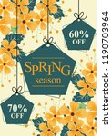 spring sale discount floral... | Shutterstock .eps vector #1190703964