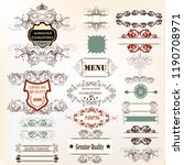 big collection of calligraphic... | Shutterstock .eps vector #1190708971