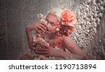 young beautiful girl elf.... | Shutterstock . vector #1190713894